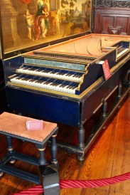Double-keyboard harpsichord and virginal in one case. Only a half dozen remain in the world.
