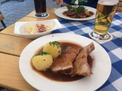More Schweinebraten for dinner, this time with lovely housemade cole slaw.