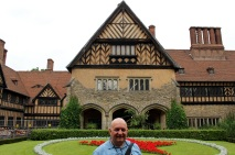 In front of Cecilienhof.