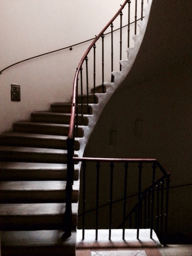 The stairway to our apartment.  We are in an OLD building in the Mala Strana.