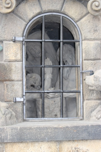 Detail of one of the statue's bases.