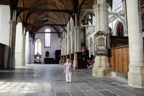 At the Oude Kerk.