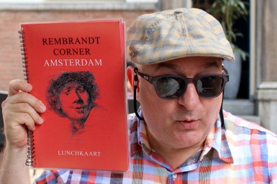 I'm trying my hand at being a Rembrandt model. Amsterdam, 2015.