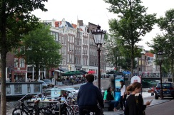 I just love this view near the Anne Frank House, looking across Prinsengracht.