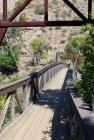 This suspension bridge takes you to Ryan Island.