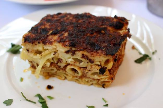 Pastitsio for luncheon.