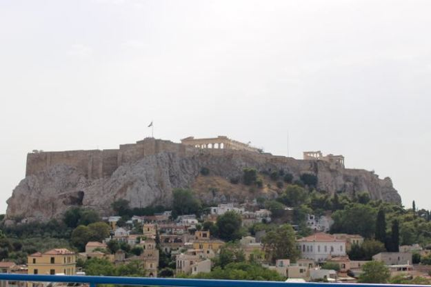 Yup. That's the Acropolis from the top deck of the Webster University Ipitou building in Athens.