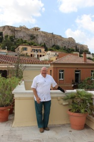 From the rooftop garden of the Webster University Athens Cultural Center.