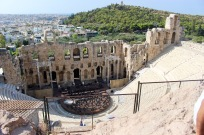 Theatre of Herodes Atticus. Maria Callas sang the first concert of the modern era.