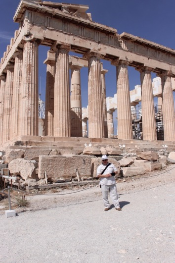 At the Parthenon in Athens, September 2015.
