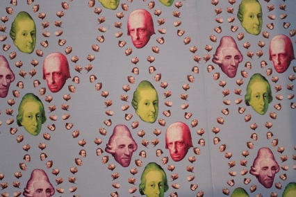 SCARY wallpaper in the Haydn exhibition.