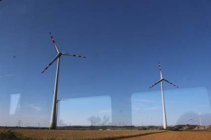 The windmills are really, really tall and imposing.