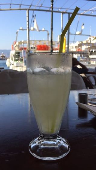 Freshly squeezed lemonade -- an afternoon refresher.