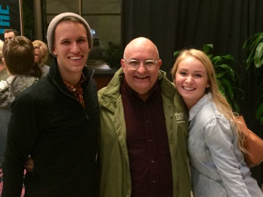 With Chase and Caroline Adams, both students of mine, after the show.