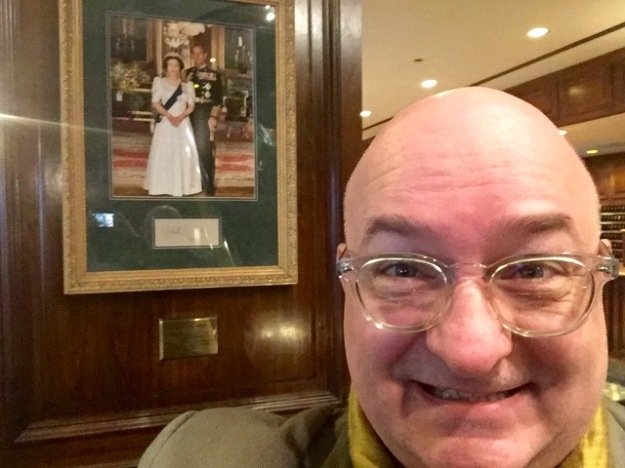 With the photo commemorating HM The Queen and HRH The Duke of Edinburgh's visit to the Adolphus.
