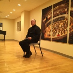 Sir Mark Elder at an audience after the CSO concert.