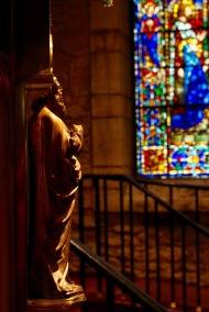 Detail of pulpit.
