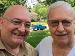 With my pop.
