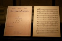 Original printing of 'God Bless America,' with Berlin's autograph.