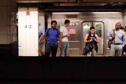 Subway platform underneath Grand Central.