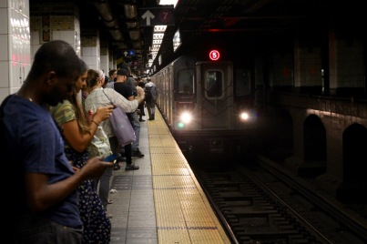 Subway platform.