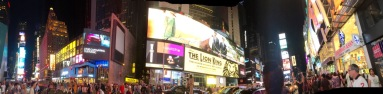 Times Square panorama, Tuesday evening.