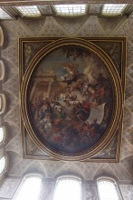 Entry hall ceiling.