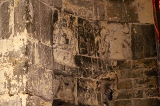 Graffiti from the castle's time as a prison.