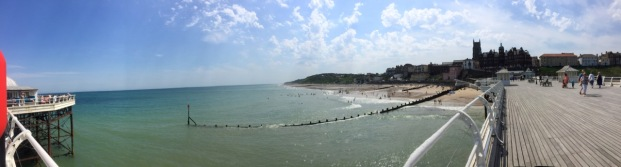 From the pier.