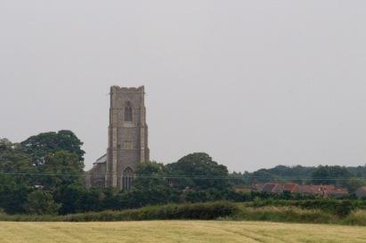 Village church, from train.