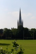Norwich Cathedral, from the east.