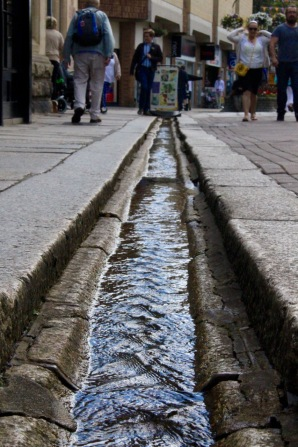 Apparently the water table is high in Truro, since water was running in stone gutters all over town.