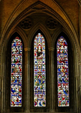 East window.