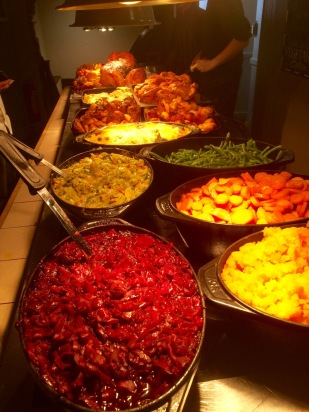 The dinner spread.