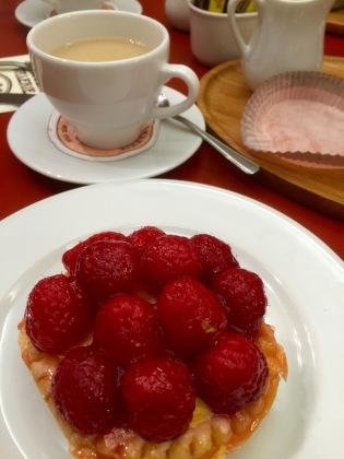 Raspberry tart.