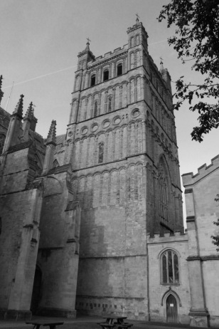Norman tower on a Gothic cathedral.