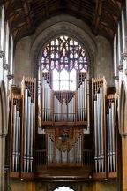 Organ and west window.