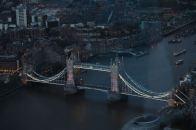 Tower Bridge at dusk.