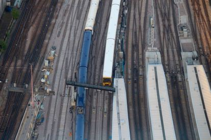 London Bridge trainyard.