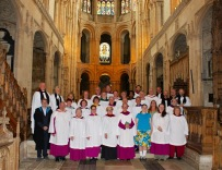 Choir and clergy after final service.