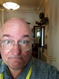 At the Royal Opera House, with Beecham over my shoulder.