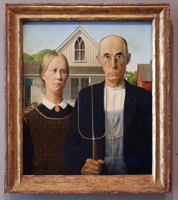 Grant Wood. American Gothic.
