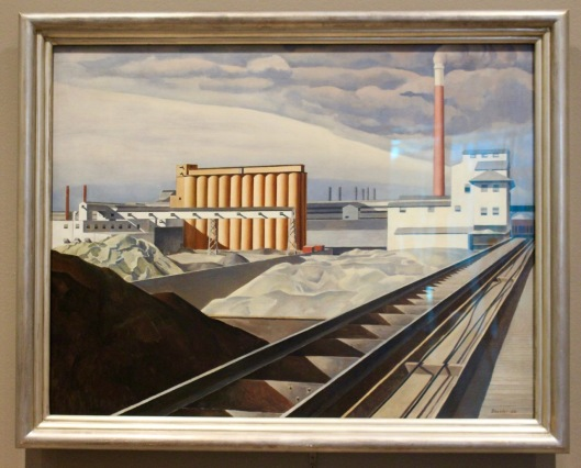 Charles Sheeler, 1931. Classic Landscape.