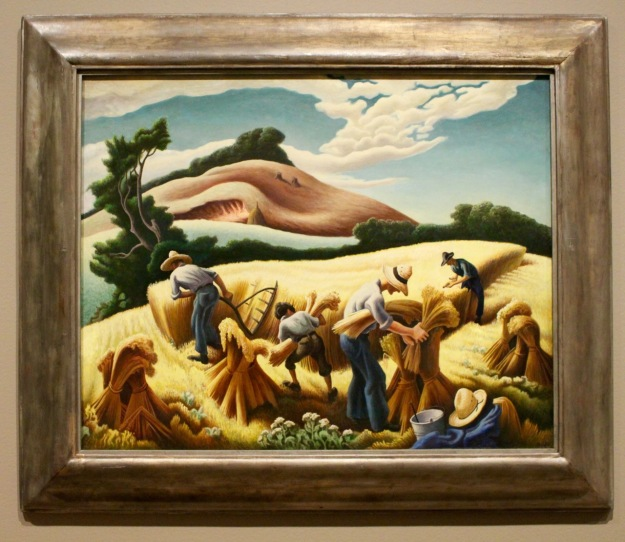 Thomas Hart Benton, 1938. Cradling Wheat.