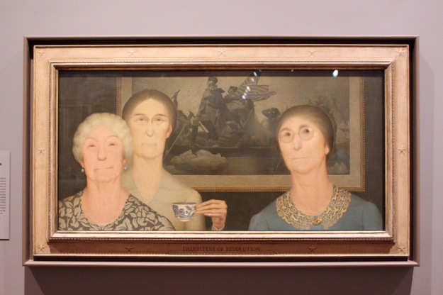 Grant Wood, 1932. Daughters of Revolution.