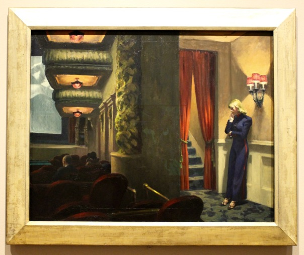 Edward Hopper, 1939. New York Movie. This painting is filled with incredible suggestive detail.