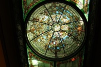 Glass dome in library.