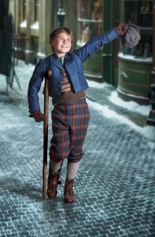 Owen Hanford as Tiny Tim.