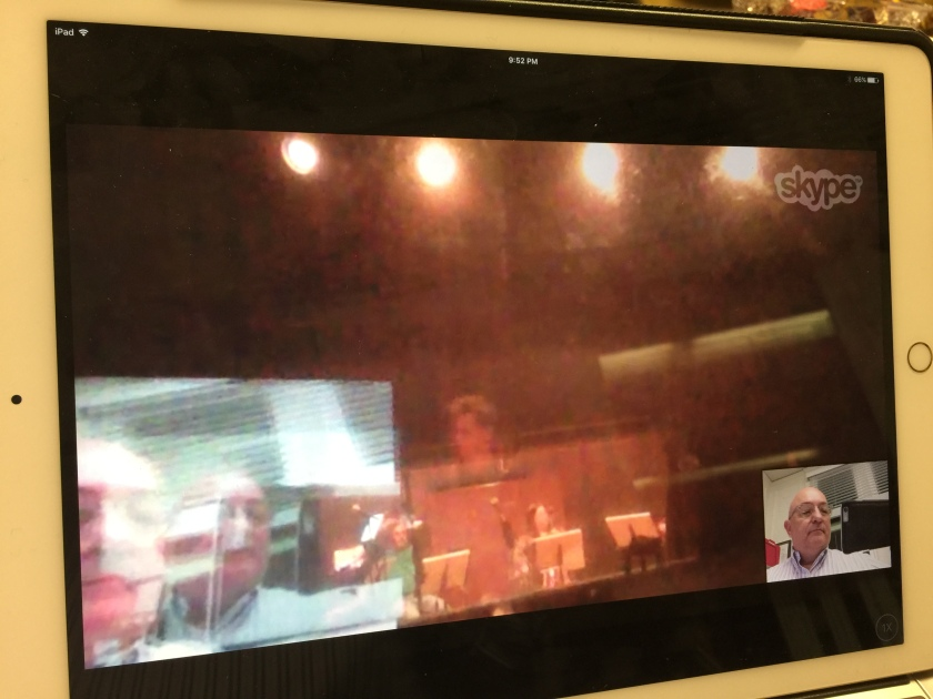 From the recording session . . . by Skype!