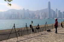 Photographers had their spots staked out for the big fireworks disply.